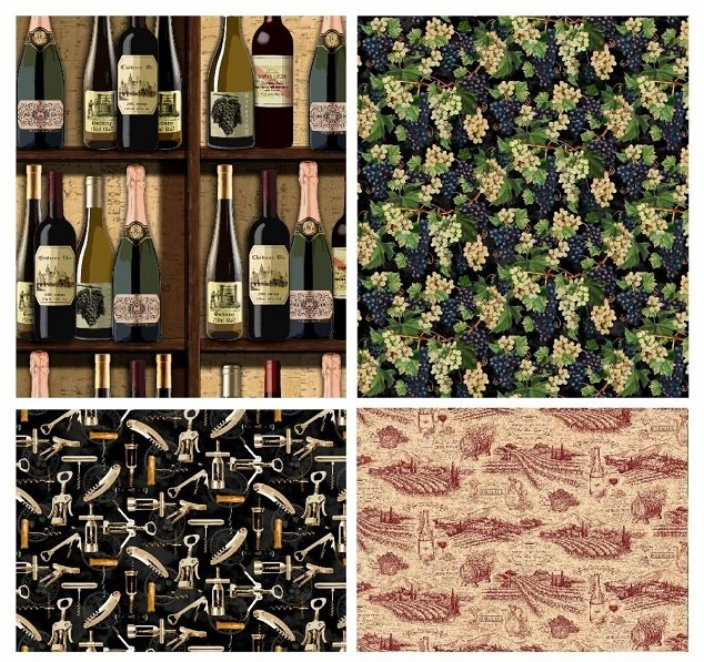 Fat Quarter Bundle - You Had Me At Wine (12 pieces) by Deborah Edwards for Northcott