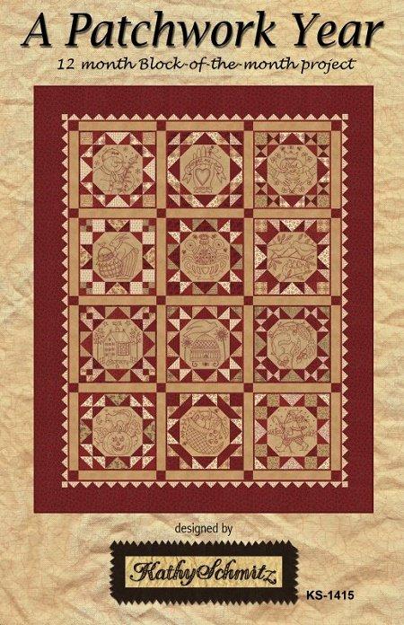Pattern - A Patchwork Year BOM by Kathy Schmitz