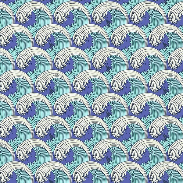 Zuma - White Caps in Aquamarine by Tula Pink for Free Spirit