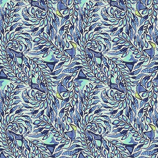 Zuma - Stingray in Aquamarine by Tula Pink for Free Spirit
