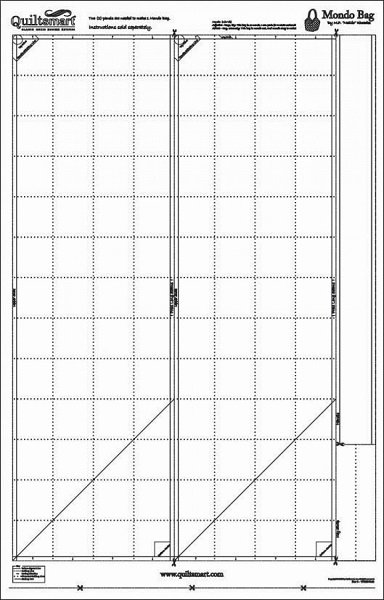 Mondo Bag Pre-Printed Interfacing - 2 panels required by Quiltsmart