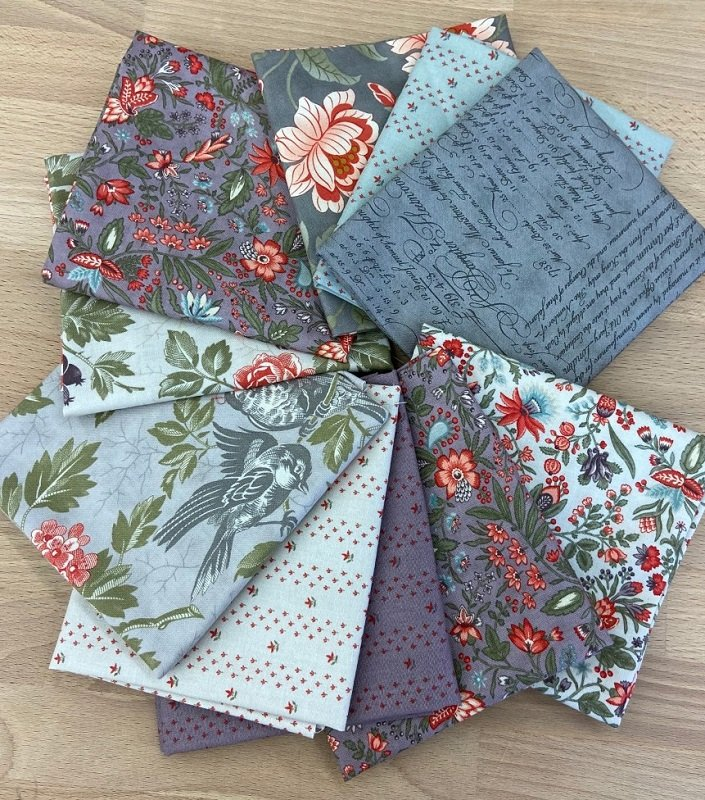 Fat Quarter Bundle - Quill (10 pieces) by 3 Sisters for Moda