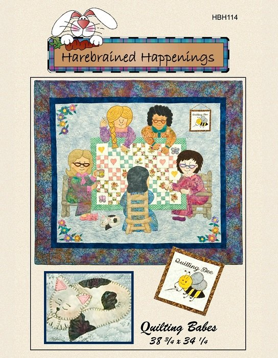 Pattern - Quilting Babes (39 x 34) by Harebrained Happenings