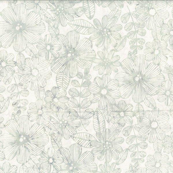 Bali Handpaints - Line Floral in Mist by Hoffman