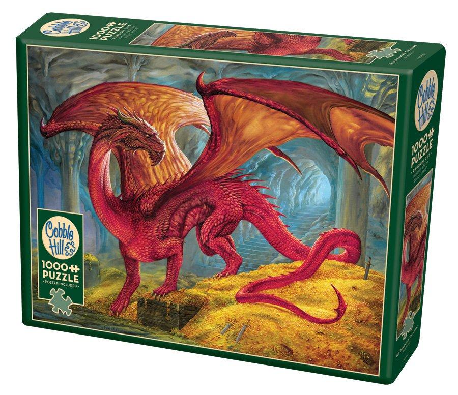 Puzzle - Red Dragon's Treasure (1000 pieces) by Ciruelo for Cobble Hill