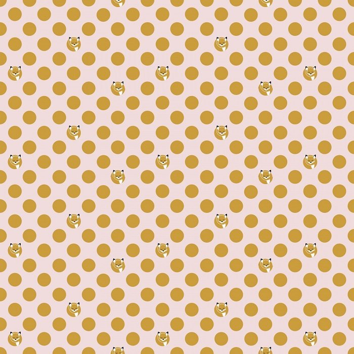 Fox Farm - Dots on Pink with Sparkle by Melissa Mortenson for Riley Blake