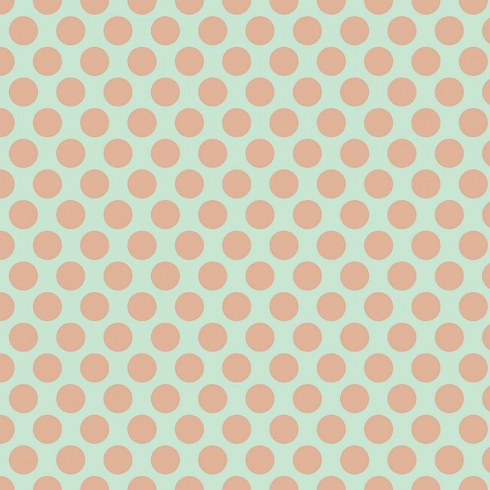 Glam Girl - Dots on Mint with Rose Gold Sparkle by Dani Mogstad for Riley Blake