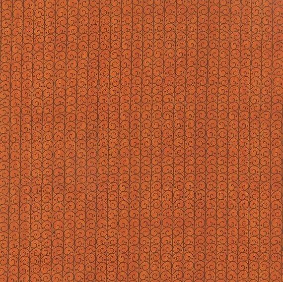 Forest Fancy - Scrolly Trellis in Harvest Orange by Deb Strain for Moda