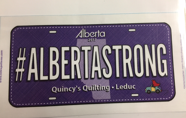 License Plate - #AlbertaStrong 2017 (Purple)