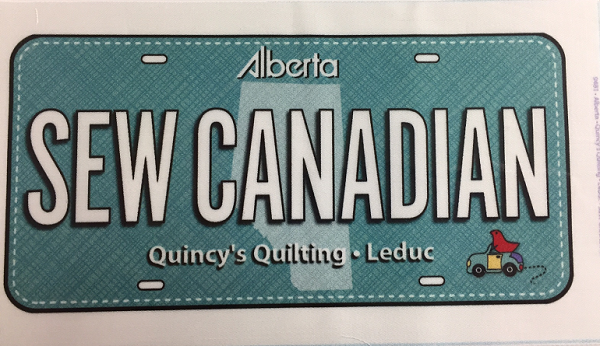 License Plate - Sew Canadian 2017 (Teal)
