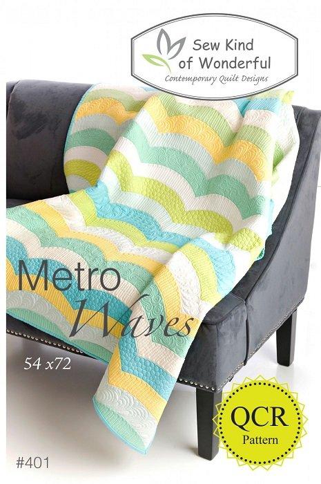 Pattern - Metro Waves (54 x 72) by Jenny Pedigo from Sew Kind of Wonderful