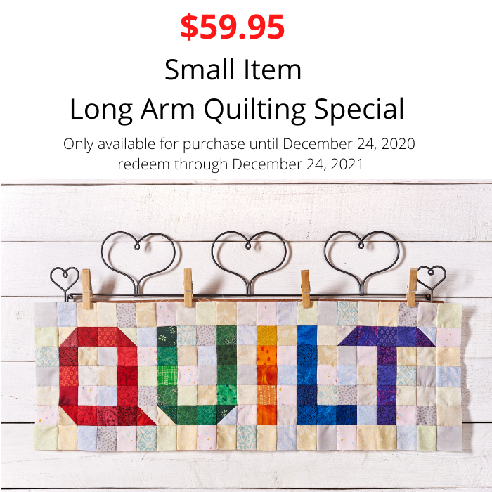 Small Item Quilting Voucher $59.95