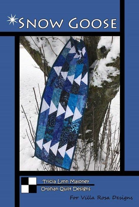 Kit - Snow Goose Runner (10 x 50) in Blue Batiks