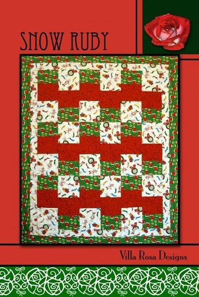 Snow Ruby - A Villa Rosa Pattern (47 x 56)