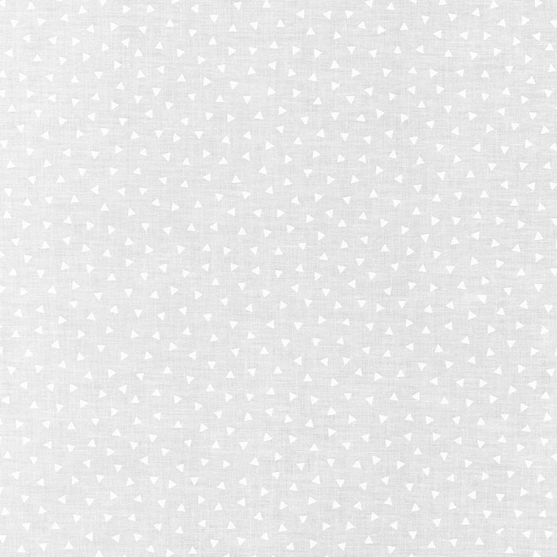 Mini Madness - Triangles in White on White by RKF Collection for Robert Kaufman