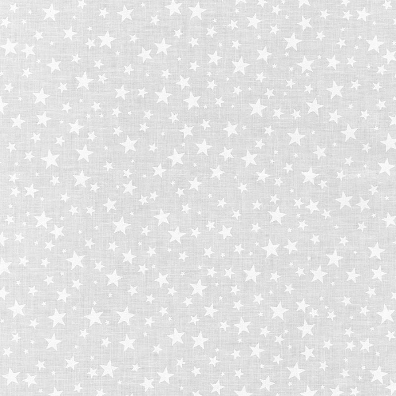 Mini Madness - Stars in White on White by RKF Collection for Robert Kaufman