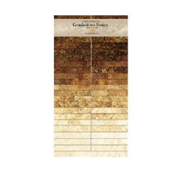 Strips - Stonehenge Gradations in Iron Ore (40 x 2.5 strips) by Linda Ludovico for Northcott