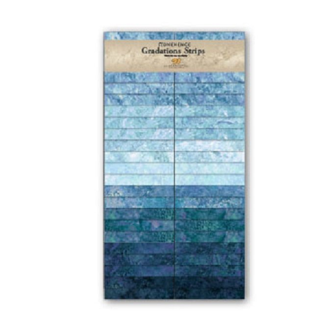 Strips - Stonehenge Gradations in Mystic Midnight (40 x 2.5 Strips) by Linda Ludovico for Northcott