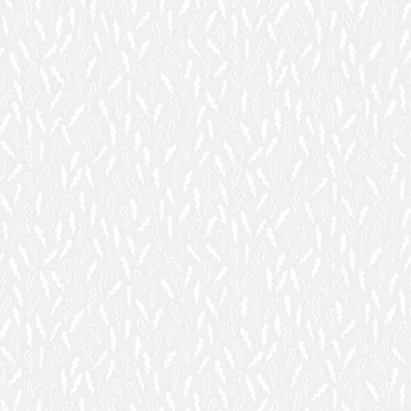 Monochrome White - Lightning in White on White by Dear Stella