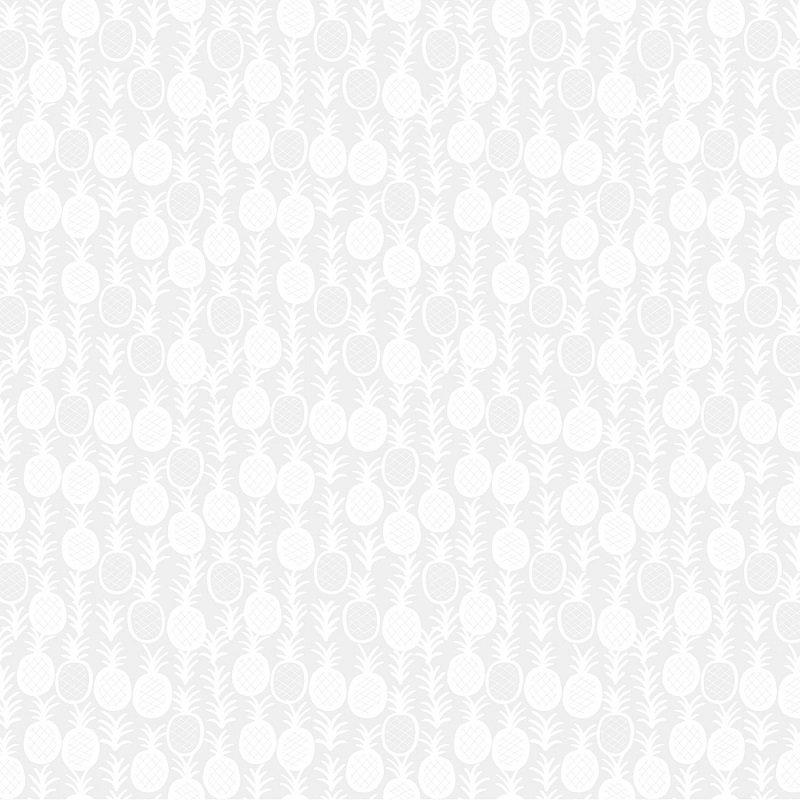 Monochrome White - Pineapple Express in White on White by Dear Stella