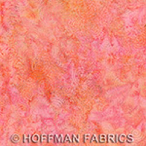 Acres to Sew Batiks - Dots in Peach by McKenna Ryan for Hoffman
