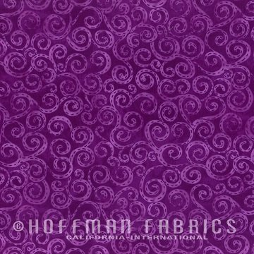 Heart and Soul Sisters - Swirls in Viola by Jamie Fingal for Hoffman