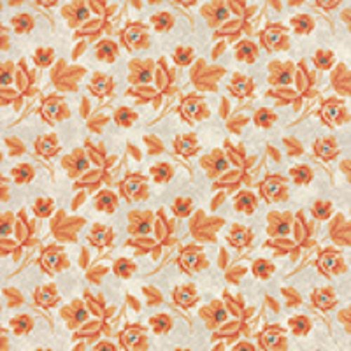 Persimmon - Medium Flower in Marshmallow Pumpkin by BasicGrey for Moda
