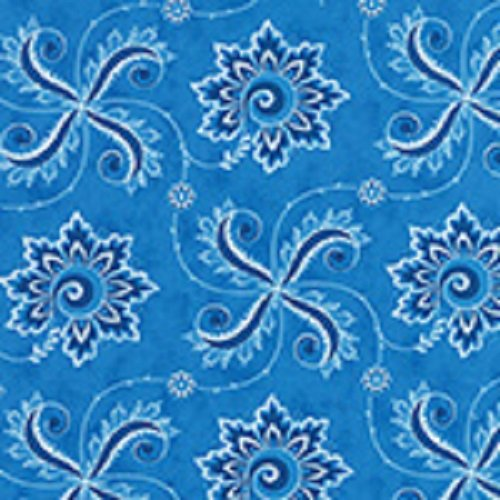 Fancy - Twirl in Admiral's Blue by Lily Ashbury for Moda