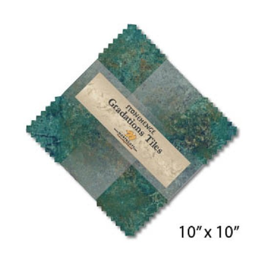Tiles - Stonehenge Gradations in Oxidized Copper (42 x 10 squares) by Northcott