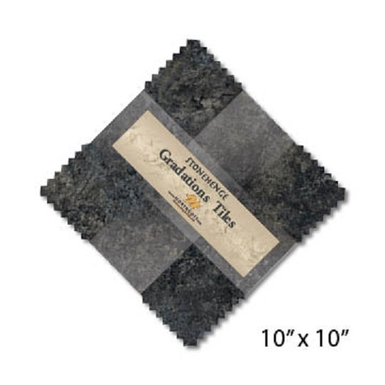 Tiles - Stonehenge Gradations in Graphite (42 x 10 squares) by Northcott