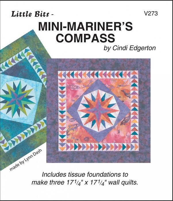 Pattern - Little Bits: Mini-Mariner's Compass (17.25 x 17.25) by Cindi Edgerton from A Very Special Collection