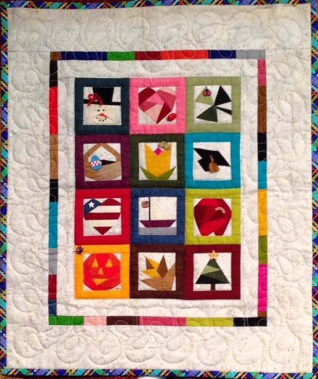 Pattern - Calendar Quilt & Pins (15 x 18) by Cindi Edgerton from A Very Special Collection