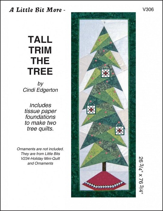 Pattern - Little Bit More: Tall Trim the Tree (26 x 76) by Cindi Edgerton from A Very Special Collection