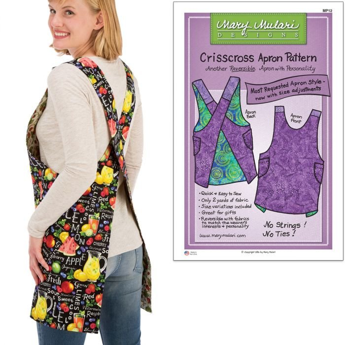 Criss Cross Apron Pattern by Mary Mulari