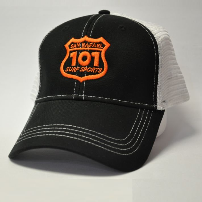 101 Surf Sports Cap - Black/Orange