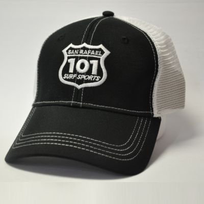 101 Surf Sports Cap - Black/White