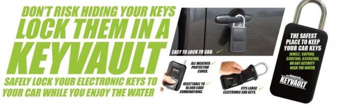 Lock able safe for keys