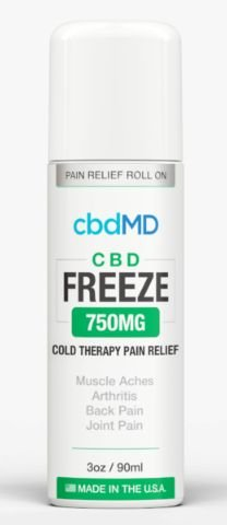 CBDMD Freeze Pain Relief 3oz Roller 750mg