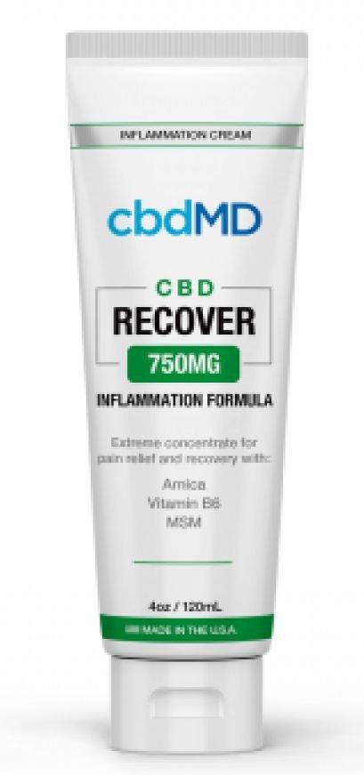 CBDMD Inflammation Formula 4oz Tube 750mg