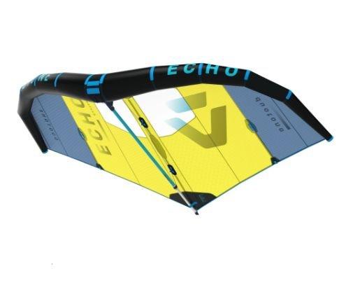 Duotone Echo Wingsurfer With Boom & Wrist Leash (no pump) Blue Yellow
