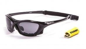 Ocean Sunglasses Lake Garda shiny black frame smoke lens