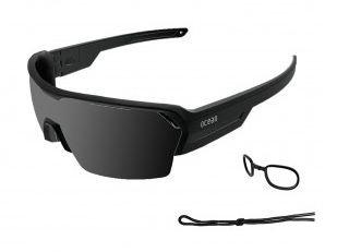 Ocean Sunglasses Race Matte Blk Frame Smoke Lens