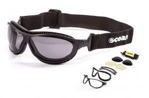 Ocean Sunglasses Tierra De Fuego Matte Blk Smoke Lens