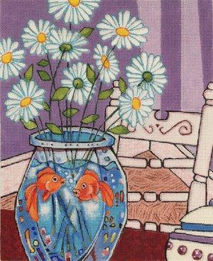 Daisies and goldfish