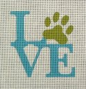 paw love simple needlepoint