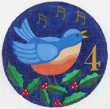 4 Calling Birds Ornament