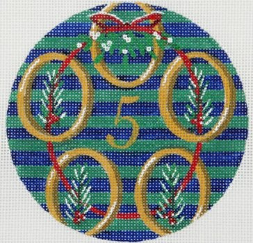 5 Golden Rings ornament