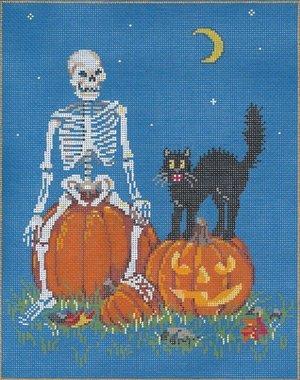 Halloween Needlepoint Shriek