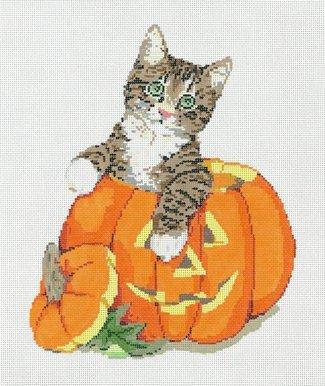 Halloween Needlepoint Tab-boo