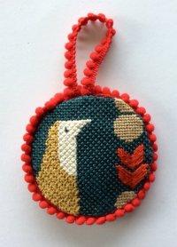 finishing a needlepoint ornament